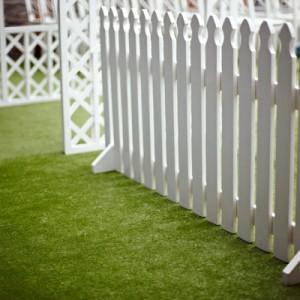 Забор декоративный деревянный белый