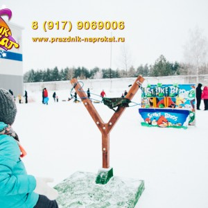 Аттракцион  Рогатка Angry Birds в Казани