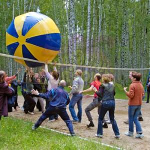 Гигантский мяч (диаметр 2 метра) аттракцион
