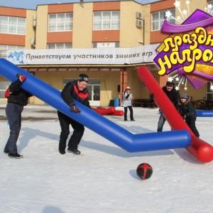 Гигантский хоккей (клюшки) надувной аттракцион